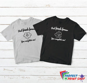 "Set tricouri bff ""Best friends forever - You complete me!"""