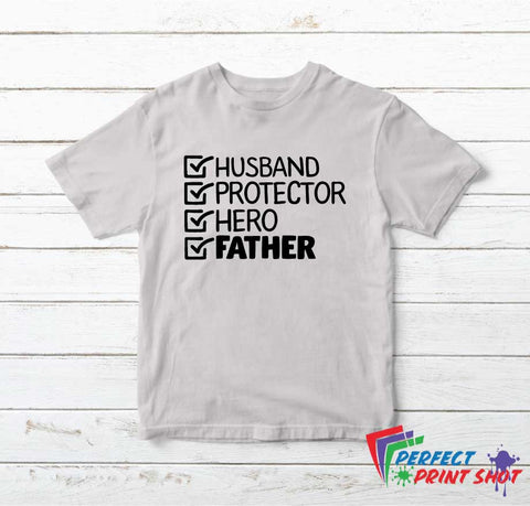 Tricou Husband Protector Hero Father