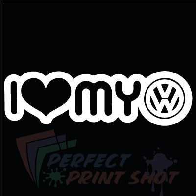 Stiker I love my VW 2