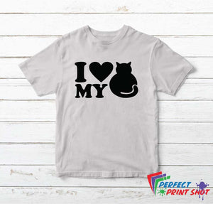 "Tricou ""I love my cat"""