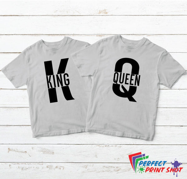 "Set tricouri cuplu ""King Queen"""