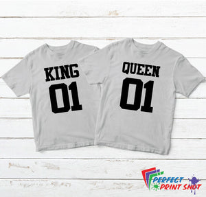 "Set tricouri cuplu ""King 01 - Queen 01"""