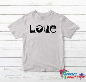"Tricou ""Cats Love"""