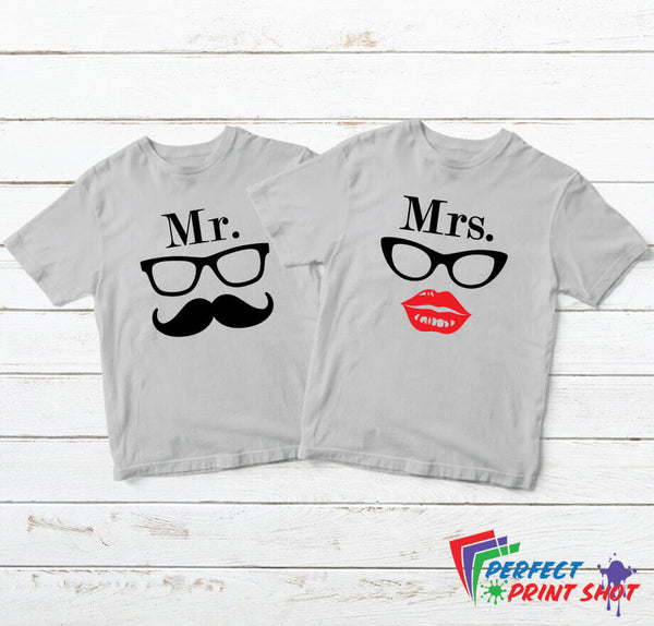 "Set tricouri cuplu ""Mr & Mrs."""
