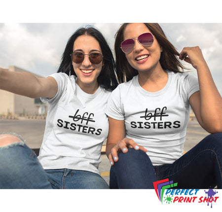 "Set tricouri ""Not bff... Sisters"""