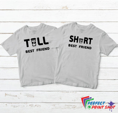 "Set tricouri bff ""Tall best friend - Short best friend"""