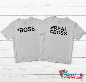 "Set tricouri cuplu ""The Boss - The real Boss"""