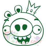 Stiker Angry Pigs
