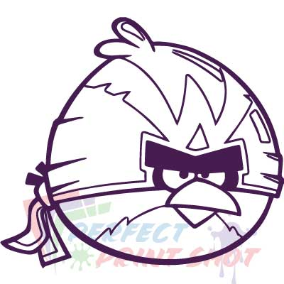 Stiker Angry Birds - Terence