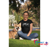 "Tricou ""Dog love puls"""