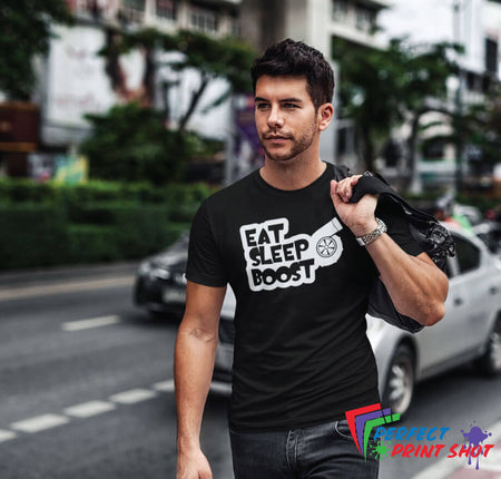 "Tricou ""Eat Sleep Boost"""