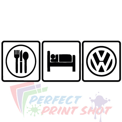 Stiker Eat Sleep VW 3
