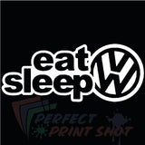 Stiker Eat Sleep VW