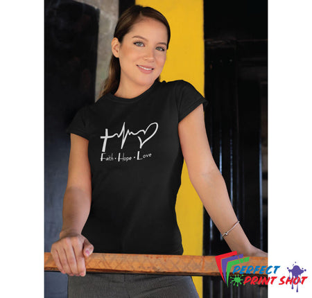 "Tricou ""Faith Hope Love"""