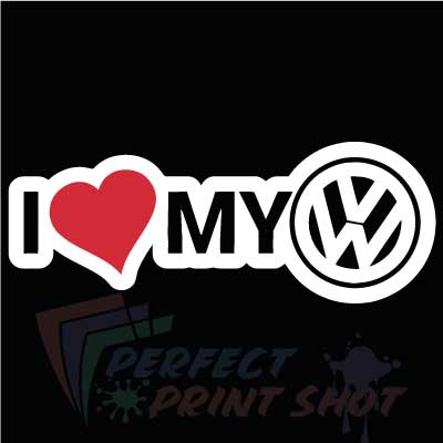 Stiker I love my VW