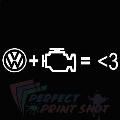 Stiker VW Check Engine = Love
