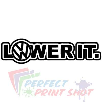 Stiker VW Lower it