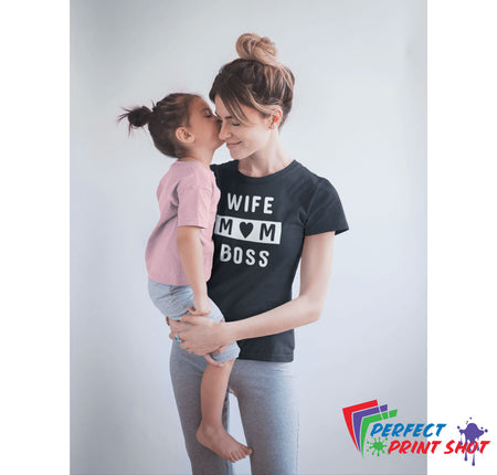 "Tricou ""Wife Mom Boss"""