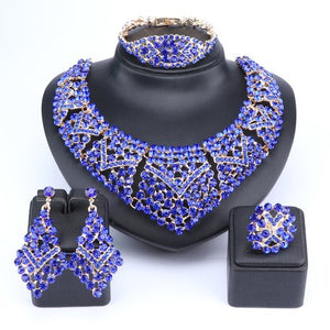Royal Blue Crystal Jewelry Set