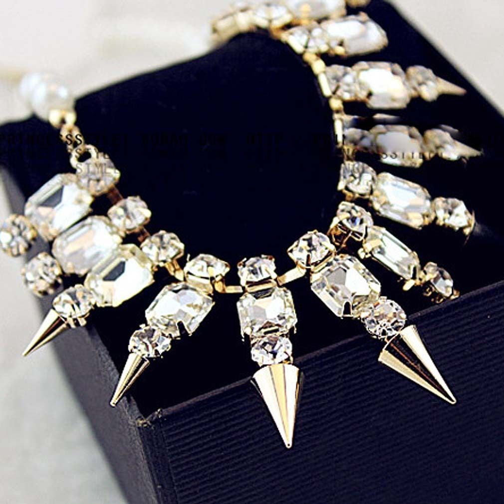 Rhinestone, Crystal and Alloy Standout Necklace