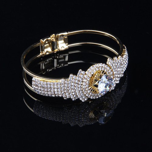 Gold and Crystal Bracelet