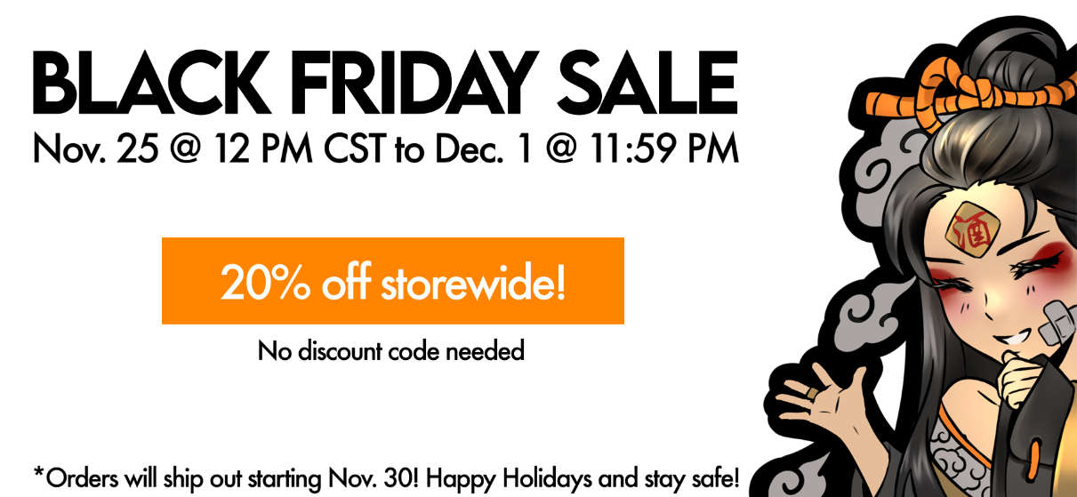 black friday sale 20% off storewide