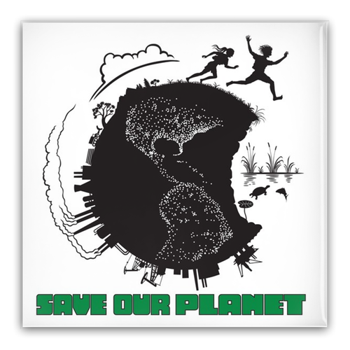 Save Our Planet (square) Pin-Back Buttons