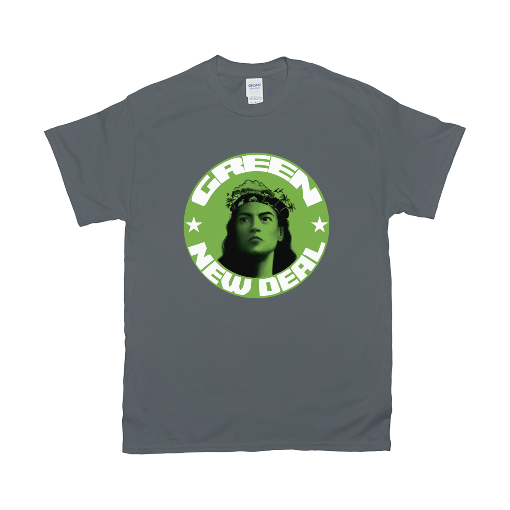 AOC/Green New Deal T-Shirts (Lime Shield)