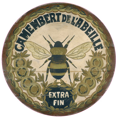 Camembert Bee Art by Darrellene Designs