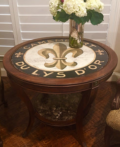 "Black Fleur De Lis 15"" or 23"" Wall Art or Lazy Susan"