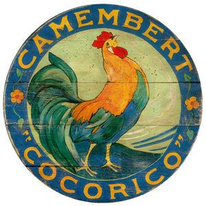 Camembert Cocorico Blue Rooster Art by Darrellene Designs