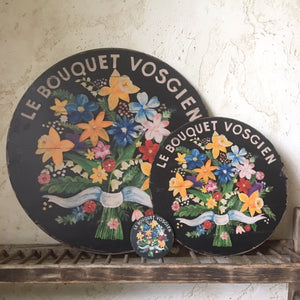 Bouquet of Flowers Black Wall Art or Lazy Susan