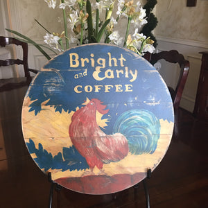 "Bright & Early Rooster 15"" or 23"" Wall Art or Lazy Susan"