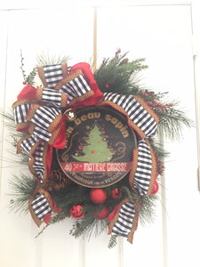 "Christmas Tree 15"" or 23"" Wall Art or Lazy Susan"