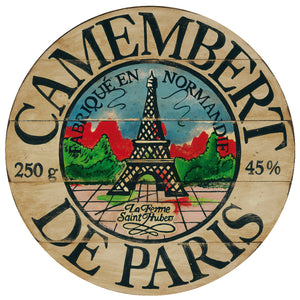 Camembert Eiffel De Paris Art by Darrellene Designs