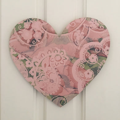 Heart Board Pink Poppy Art