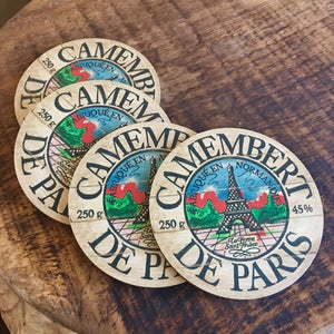 Camembert De Paris Eiffel Tower Coasters by Darrellene Designs
