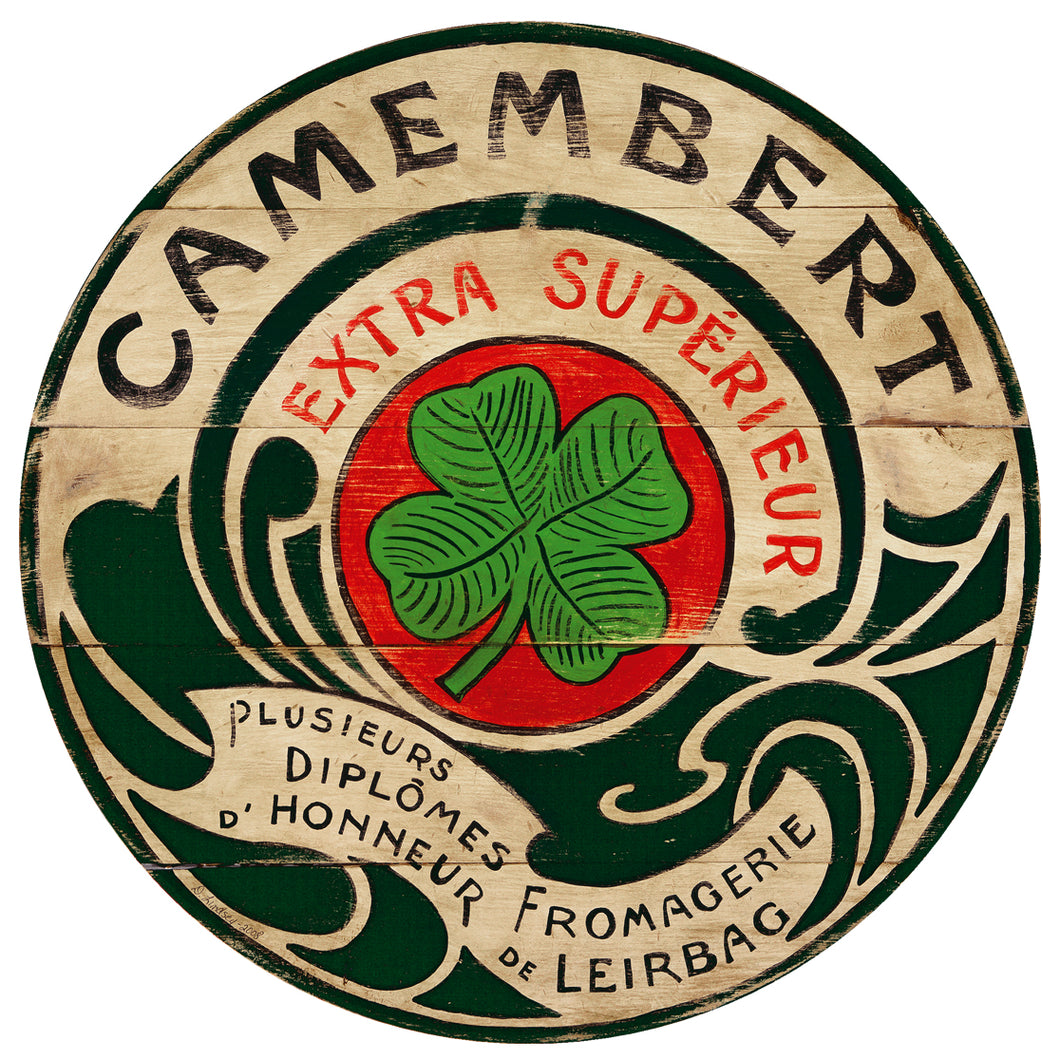 Camembert Lucky Clover art by Darrellene Designs