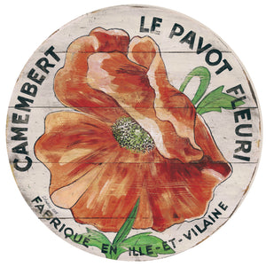 Camembert Orange Poppy Art by Darrellene Designs