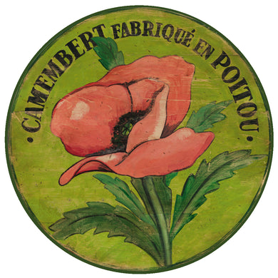 Camembert Pink Poppy Art by Darrellene Designs