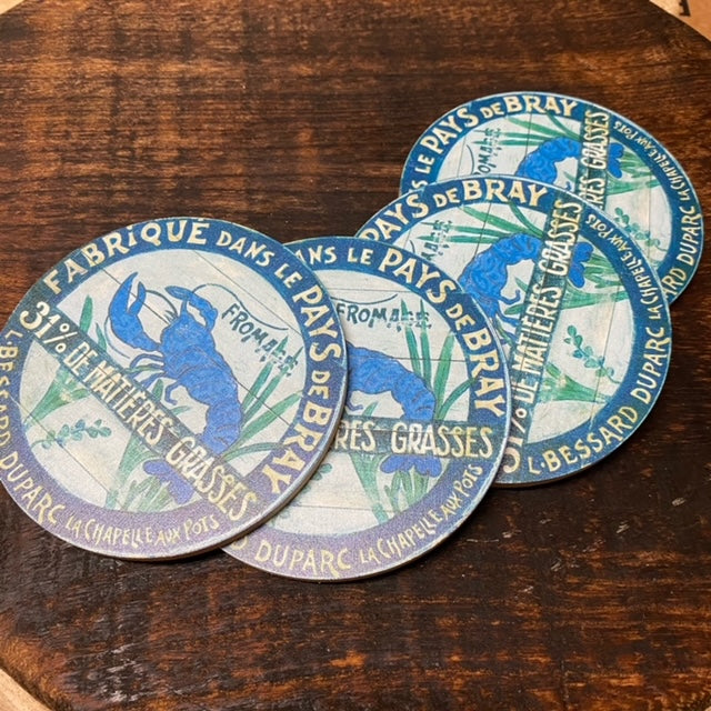 Rare Blue Lobster Coasters (set of 4)