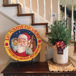 "Santa Claus 15"" or 23"" Wall Art or Lazy Susan"