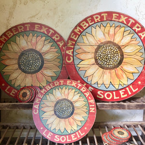 "Sunflower Sage 15"" or 23"" Wall Art or Lazy Susan"