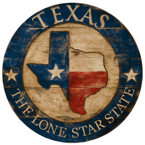 Texas State with blue border
