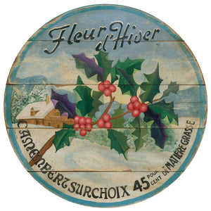 "Winter Holly 15"" or 23"" Wall Art or Lazy Susan"