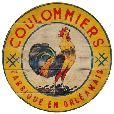 Coulommiers Yellow Rooster Art by Darrellene Designs