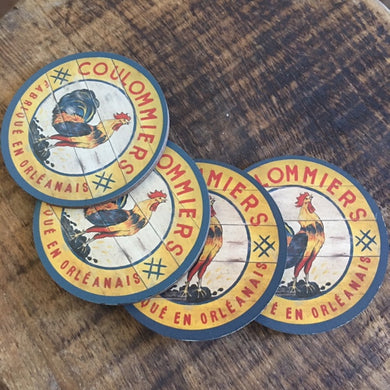 Yellow Rooster Coasters (set of 4)