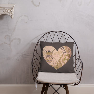 Heart Bee Mine Pillow 18 x 18
