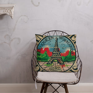 22 x 22 Eiffel Tower Throw Pillow