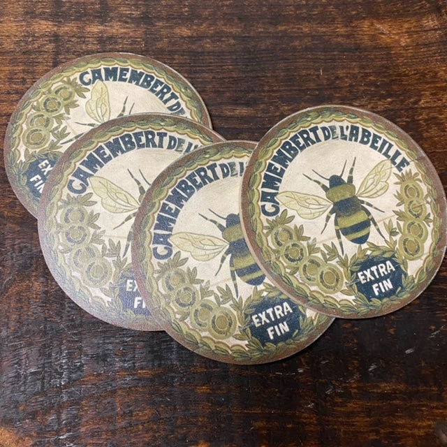 Gold Bee Coasters (set of 4)